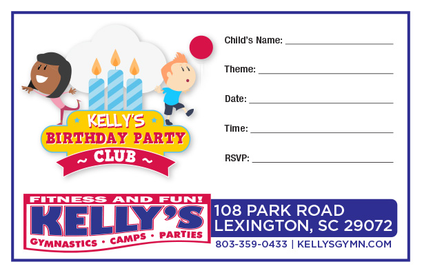 Lexington, SC Birthday Party Invitation